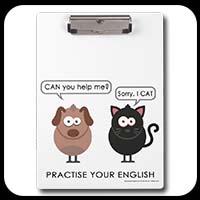 Fun animals clipboard