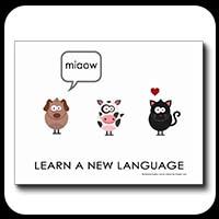 Languages Make Friends - postcard