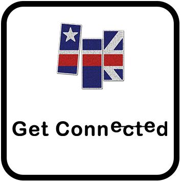 Multimedia-English Logo with Slogan