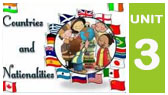 3-B) Countries and Nationalities