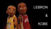 Lebron and Kobe play basketball (CoolAmericanEnglish)