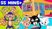 Five little monkeys - A Nursery Rhyme Collection for Kids (Kids TV)