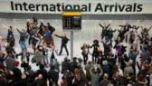 Flashmob:  Heathrow airport welcome