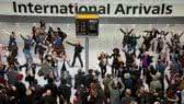 Flashmob:  Heathrow airport welcome