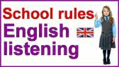 School rules - English listening (Crown Academy of English)