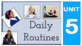Daily Routines -Vocabulary (AMES836)