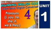 1-F)  Personal Pronouns (EnglishAnyone)