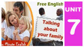 Talking about your family (Twominute English)