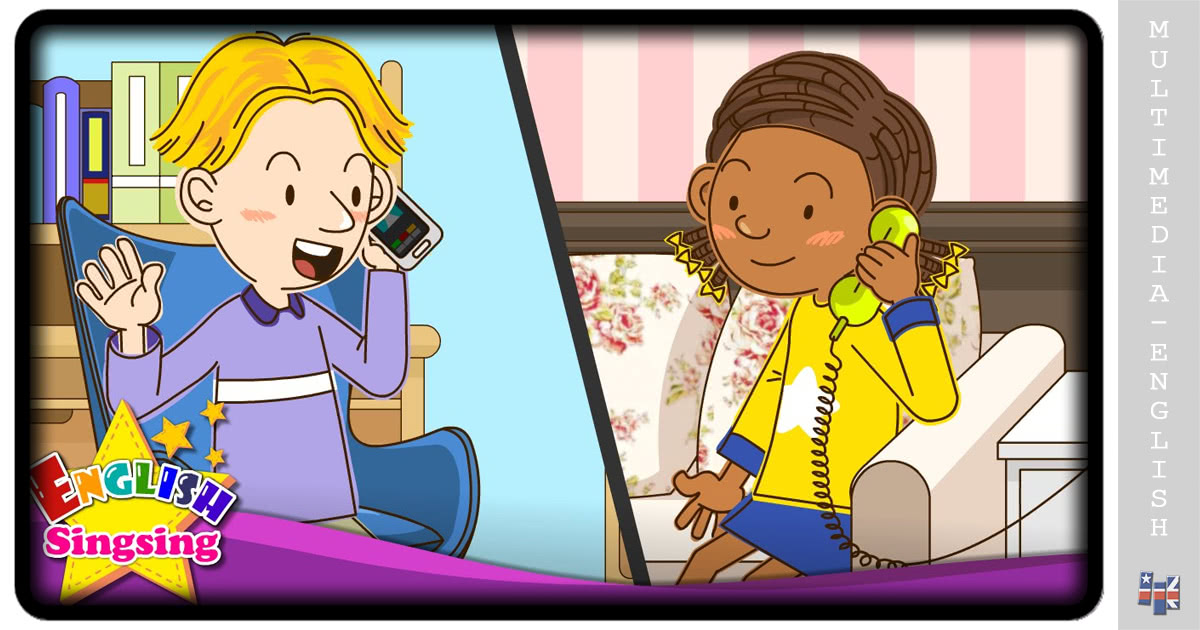 Telephone Conversations 2- Easy Dialogue for Kids (English Singsing