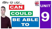 9-M)  Can / Could / (be) Able to / Managed to