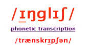 Phonetic transcription system used here