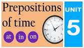 Prepositions of Time Quiz - at, in, on (English Test)