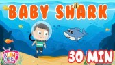 Baby Shark Song | 30 Minutes Non Stop | Nursery Rhymes for Kids | Kids Song | (Bumcheek TV)