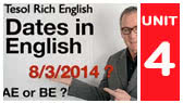 Dates in numbers: British and American way (Tesol Rich English)