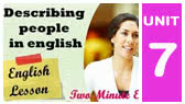 Describing People - sample conversations (Twominute English)