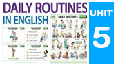 Daily Routines in English - vocabulary & practice (Woodward English)