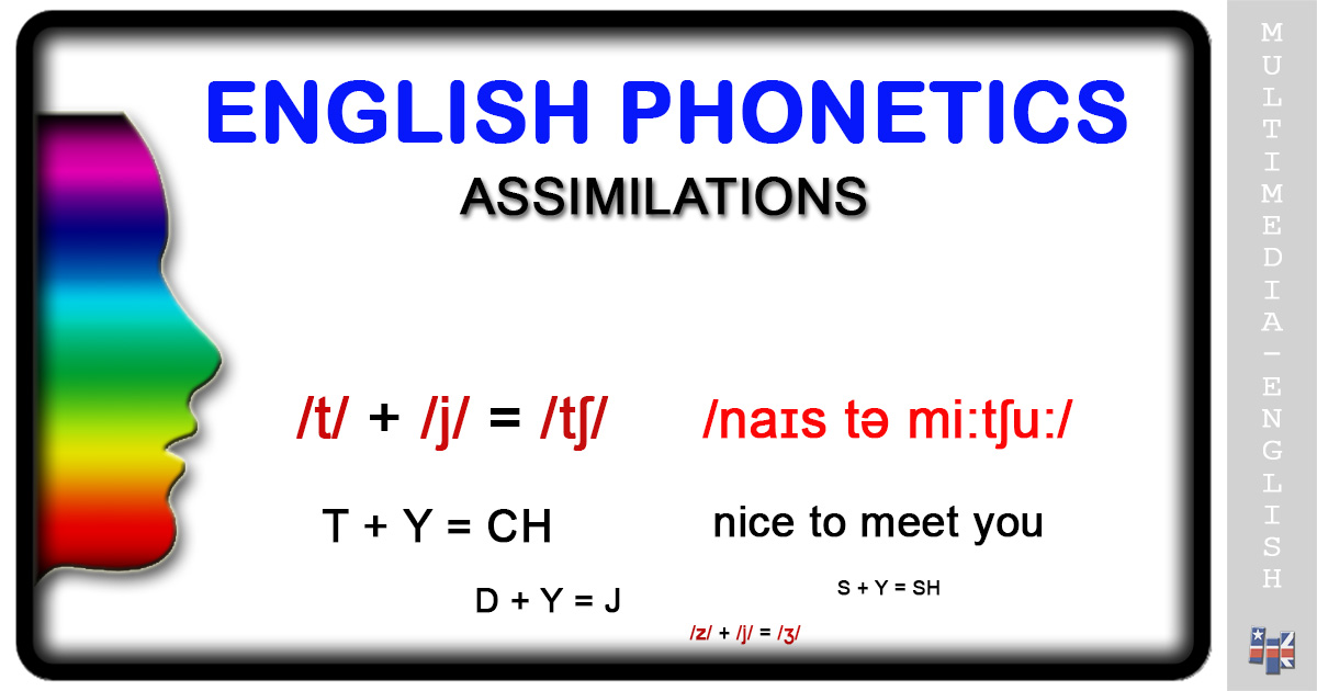 Phonetics Assimilation Multimedia English