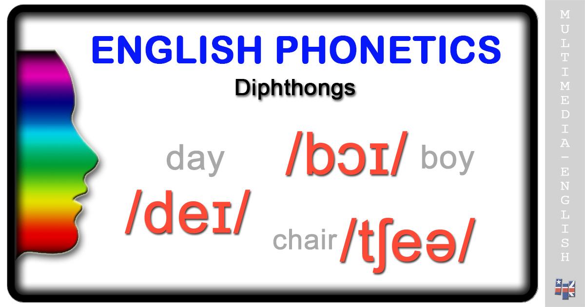Phonetics Diphthongs Multimedia English